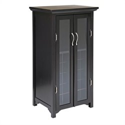 20 Bottle Wine Cabinet with French Doors in