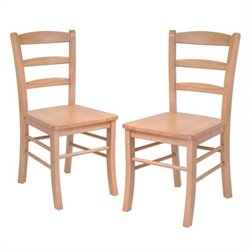 Dining Chair in Light Oak Finish (Set of 2)