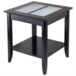 Solid Wood End Table in Espresso