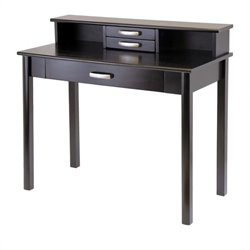 Computer Desk with Hutch in Dark Espresso