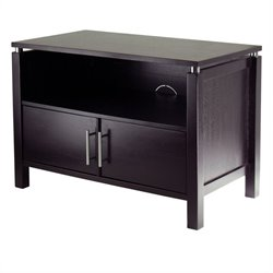 Winsome Linea Solid Wood TV Stand in Espresso