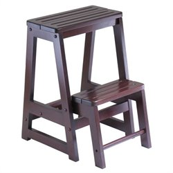 Double Step Stool in Antique Walnut