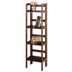 4-Tier Folding Shelf in Antique Walnut