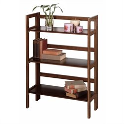 3-Tier Folding Shelf in Antique Walnut