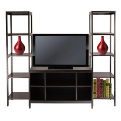 3-Piece TV Stand Shelf Set in Espresso