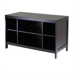 Modular Espresso TV Stand with Open Shelf