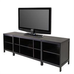 3-Piece Modular Media Center in Espresso