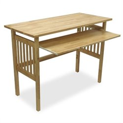 Wood Folding Computer Desk in Natural Beechwood