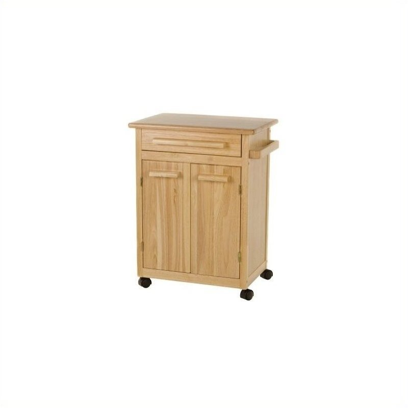 Beechwood Butcher Block Kitchen Cart in Natural Finish