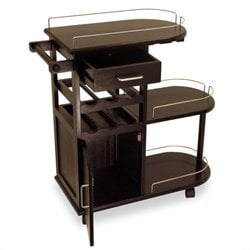 Entertainment Cart in Espresso Beechwood