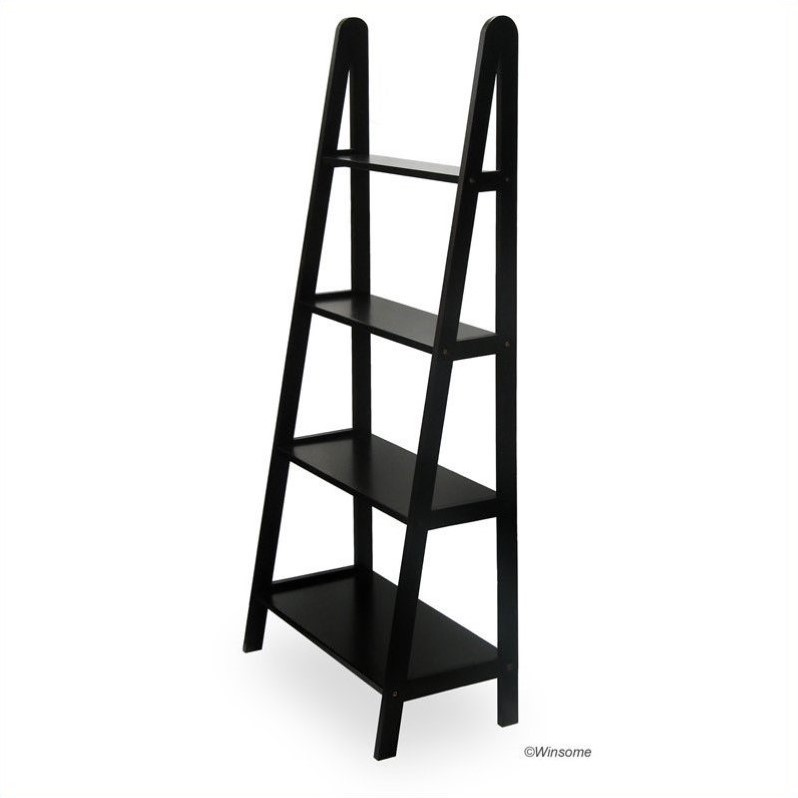 4 Tier A Frame Shelving Unit in Espresso Beechwood