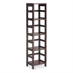 4-Section Tall Storage Shelf in Espresso