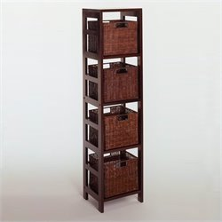Leo 5 Piece Set Shelving Unit in Espresso