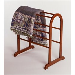 Quilt Rack Closet Organizer in Antique Walnut