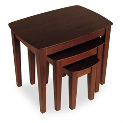 Solid Wood 3 Piece Nesting/End Tables in Walnut