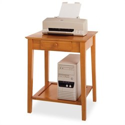 Solid Wood Printer Stand / End Table in Honey