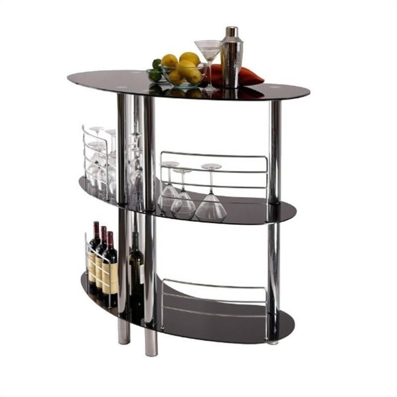 Entertainment Bar Furniture: Entertainment Home Bar In Black