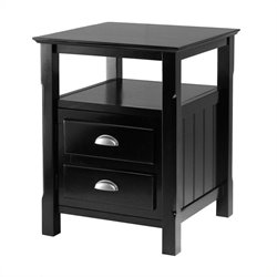 Nightstand in Black Finish