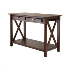 Console Table with 2 Drawers in Cappuccino Finish