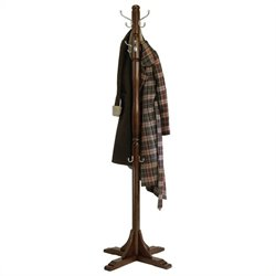 Coat Rack Tree in Cappuccino Finish