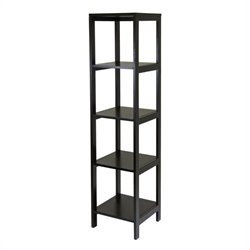 5-Tier Modular Tower Shelf in Dark Espresso Finish