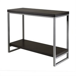 Console Table Enamel Steel Tube in Dark Espresso Finish