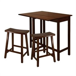 3 Piece Kitching Dining Set in Antique Walnut