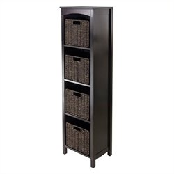 5 Piece Storage 5 Tier Shelf in Dark Espresso