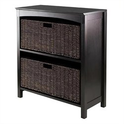 3 Piece Storage 3 Tier Shelf in Dark Espresso