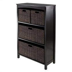 4 Tier Storage Shelf in Dark Espresso