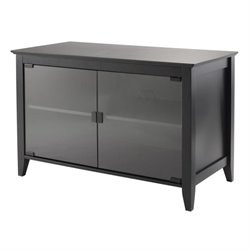 TV Stand Double Glass Doors in Black
