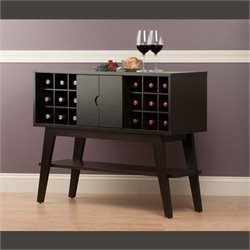 Wine Rack Console Table in Smoke