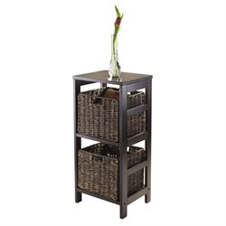 3Pc Storage Shelf with 2 Baskets in Espresso