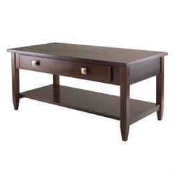 Tapered Leg Coffee Table in Antique Walnut