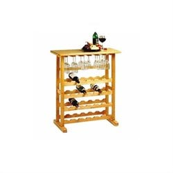 24-Bottle Wine Rack in Beech