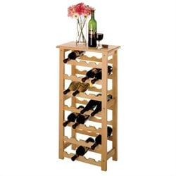 Winsome Basics 28 Bottle Wine Rack in Natural