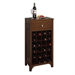 Regalia 24 Bottle Wine Cabinet in Antique Walnut
