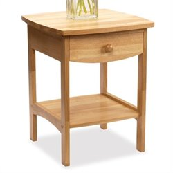 Solid Wood End Table / Nightstand in Natural