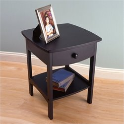 Solid Wood End Table / Nightstand in Black