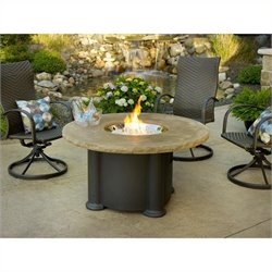 Outdoor GreatRoom Company Colonial Fiberglass Coffee Table in Mocha