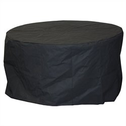 Outdoor GreatRoom Company Round Fire Pit Black Vinyl Cover