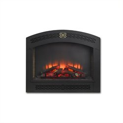 Outdoor Greatroom Company Full Arch Electric Fireplace Front for GBI-34 in Matte Black