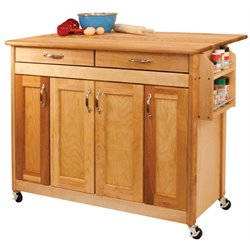 Catskill Craftsmen Kitchen Cart in Oiled Finish