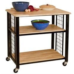 Catskill Craftsmen Contemporary Kitchen Cart in Black