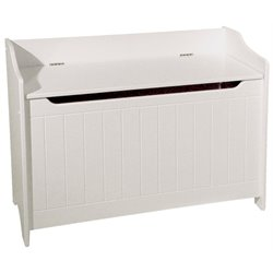 Catskill Craftsmen Wood Storage Bench in White