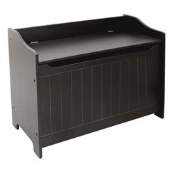 Catskill Craftsmen Wooden Storage Bench in Black