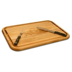 Catskill Craftsmen Versatile Wedge Trench Cutting Board in Birch