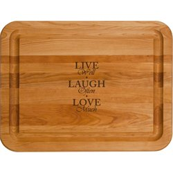 Catskill Craftsmen Live Laugh Love Cutting Board in Birch
