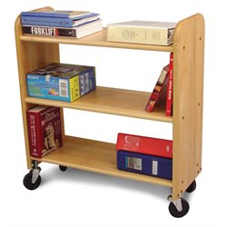 Catskill Craftsmen Library Book Truck in Natural Birch