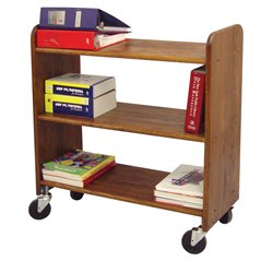 Catskill Craftsmen Library Book Truck in Walnut Stained Birch